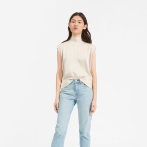 Everlane Clean Silk Charmeuse Tie Neck Blouse